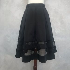 Festive Pleated Skirt with Sheer Panels